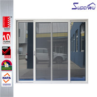 hot sale easy operation high quality restaurant aluminium framed sliding door with tempered glass