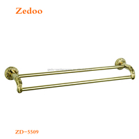 ZD-5509 hardware fitting Double gold towel bar golden towel bar