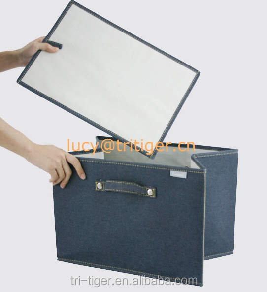 Denim Foldable Storage Bag Clothes Blanket Closet Sweater Organizer Box