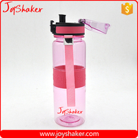 Elegant 500ml JoyShaker Wide Mouth Plastic Water Bottle, BPA Free PCTG Plastic Water Bottle With Silicone Band