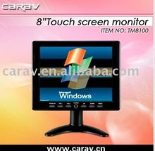 8 Inches VGA Touchscreen Desktop Car TFT-LCD Monitor with Touch Screen/ USB/SD/S-video input/Earphone optional/built-in speaker