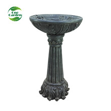 Outdoor solar fiberglass garden decoration water fountain bird bath