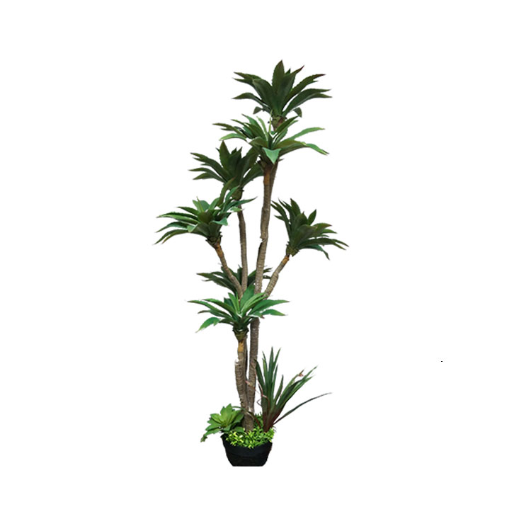 Natural Looking Factory Direct Wholesale Large Artificial Aloe Tree Home Garden Decorative Atificial Aloe tree in pot