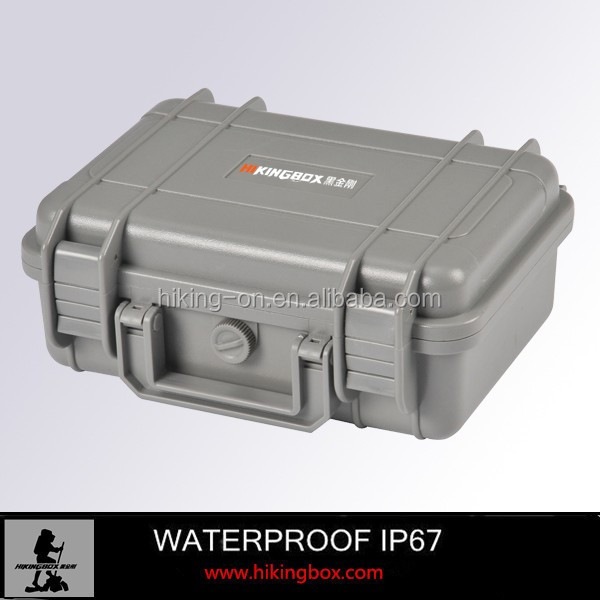 IP67 Hard plastic waterproof carrying case / Plastic Equipment Case with Foam for electronics and short guns