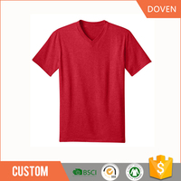 wholesale oem V-neck blank t-shirts in china