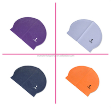 Wholesale Hot Sale Novelty Swim Hat Big Printing Waterproof Funny Ear Protection Swim Cap for Long Hair