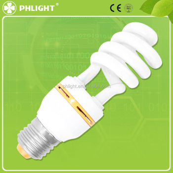 2016 Top sale high power half spiral 11W energy saving bulbs
