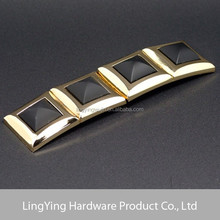 Hot sales top fashion black epoxy gold decorative belt buckle with knife