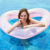 Hot new style inflatable heart swim ring with sequin summer water park game