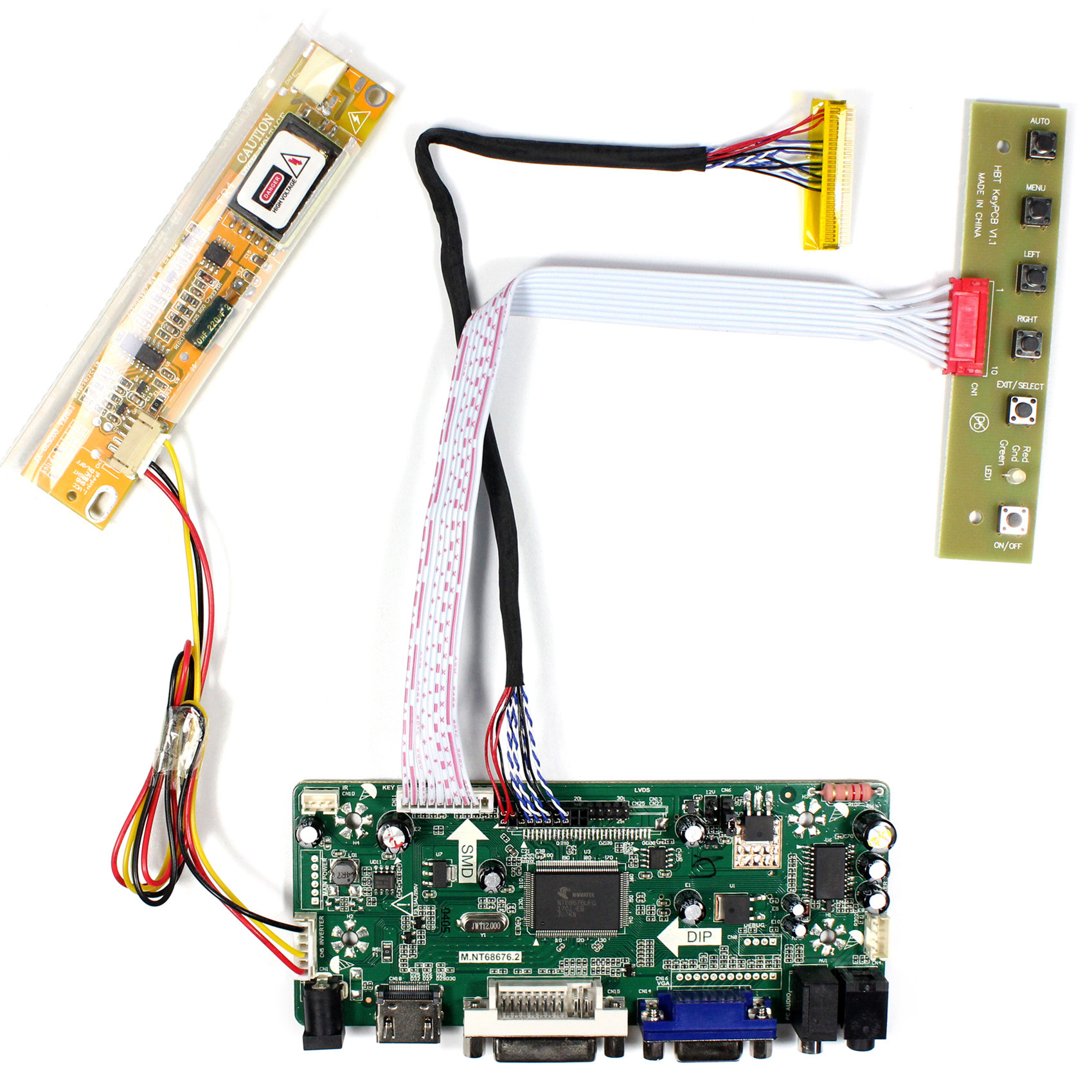 LCD Controller Board M.NT68676.2A for 14.1inch 1280x800 LCD panel