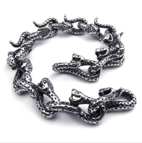 New Arrival Hot Sale Elegant Chic Gothic & All-Purpose Style Snakes Bracelets With Length 8inch