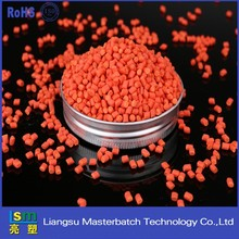 Grade A Recycled LDPE/HDPE Raw Material Plastic orange masterbatch