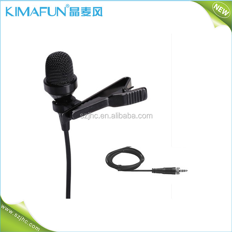 Unidirectional collar lapel noise canceling boom microphone professional for mobile phone karaoke HC-4017