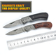 Handmade damascus steel knife ordinary red shadow wooden handle pocket knife