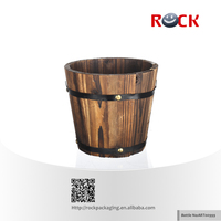 Small antique wood buckets