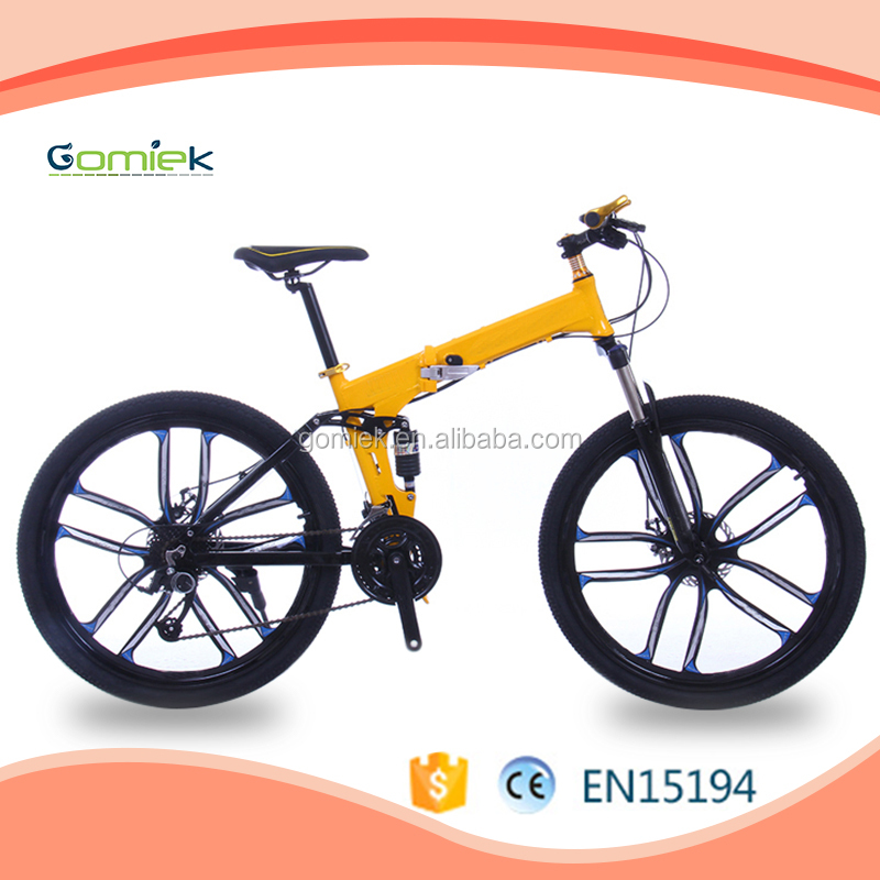 Portable Hidden Lithium Battery 350w Electric Folding Bike/26 Inch Folding fat tire Electric Bike