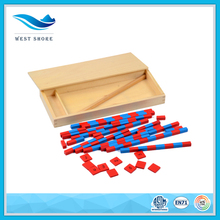 Factory wholesale children math toys table top number rods educational play toy