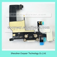 white dock connector flex cable for iphone5