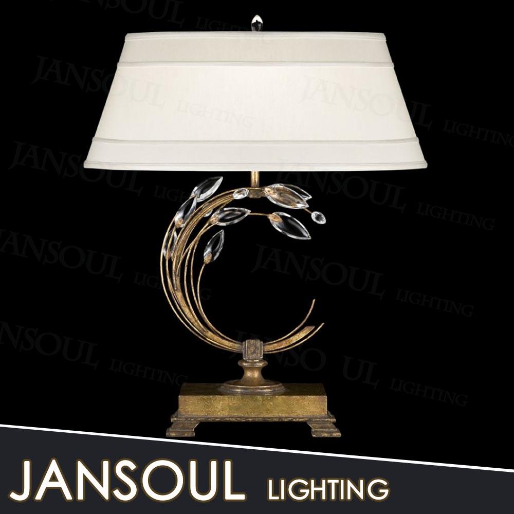 Modern Luxury Brass Table Lamp Elegant Crystal Chandelier