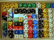 Polyhedral casino dice