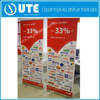 Graphic advertising event backdrop stand/advertising trade show