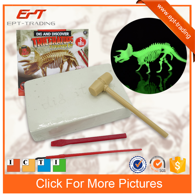 Education science projects experiments dig dinosaur kit toy for kids