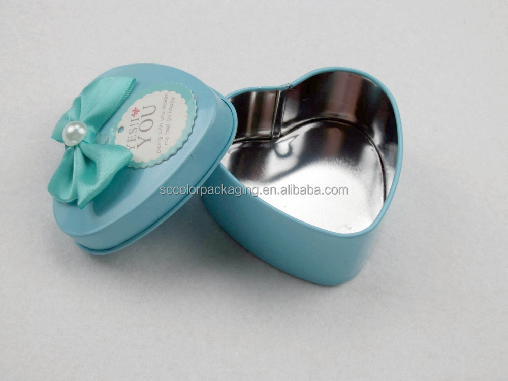 Custom high quality logo printing wide variety wedding candy box with bow