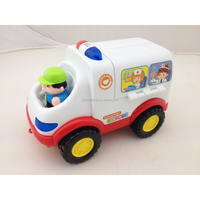 2015 New product electric bump&go ambulance for kidswith music & light ,toys ambulance car, toys electric ambulance