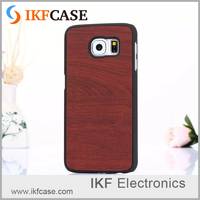 Hot new products for 2016 PC material scratch-resistant luxury wood grain leather phone cover for Sumsung Galaxy S6