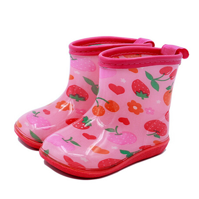 Children Cartoon Rain Boots Kids PVC Galoshes Kids Waterproof Rain boots For Girls Boys