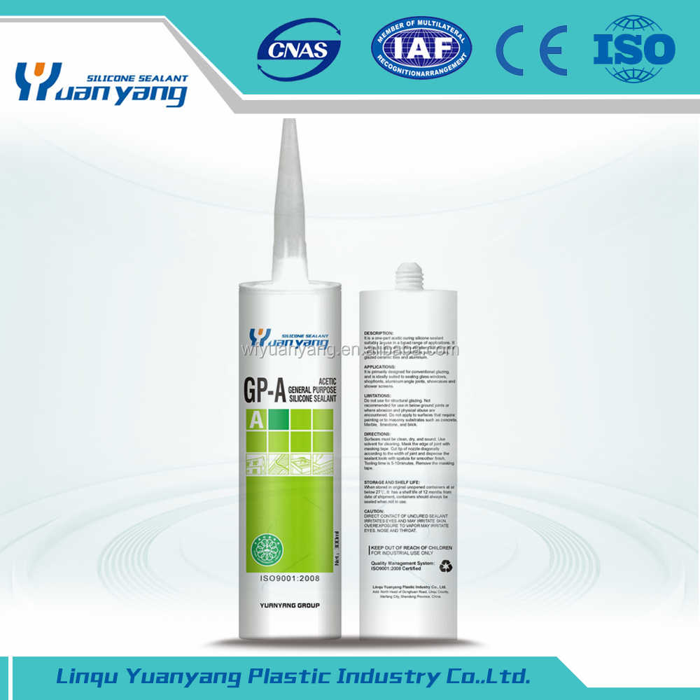 High Performance empty silicone tube silicone sealant