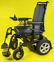 Showgood Handicapped electric high back reclining wheelchair