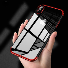Original phone <strong>Case</strong> for iPhone X Luxury Fashion Transparent TPU Soft plated Mobile Phone Back Shell for iPhone 6 6p 7 7p 8 <strong>Case</strong>