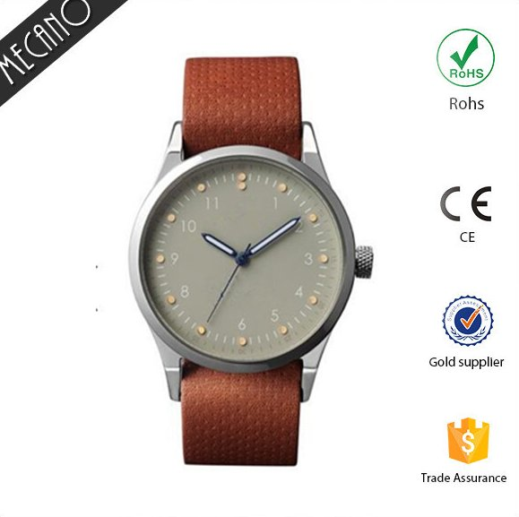 Mens Genuine Leather Stainless Steel Back Relojes de Mujer Singapore Movement Quartz Brand Your Own Watches