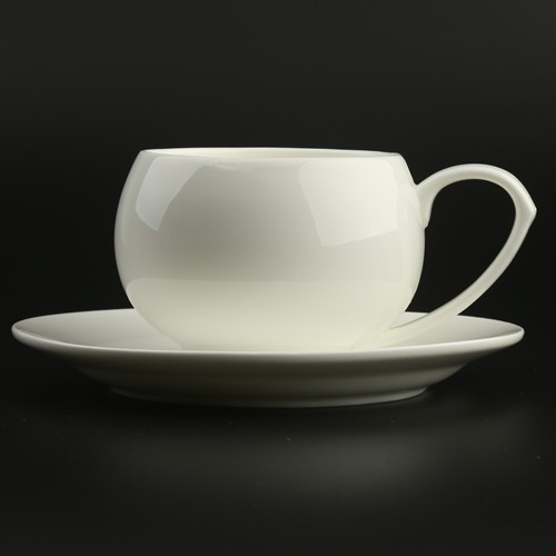 Black, Silver, Gold-Plated Unique shape Jumbo Tea Coffee Cups and Saucers Sets