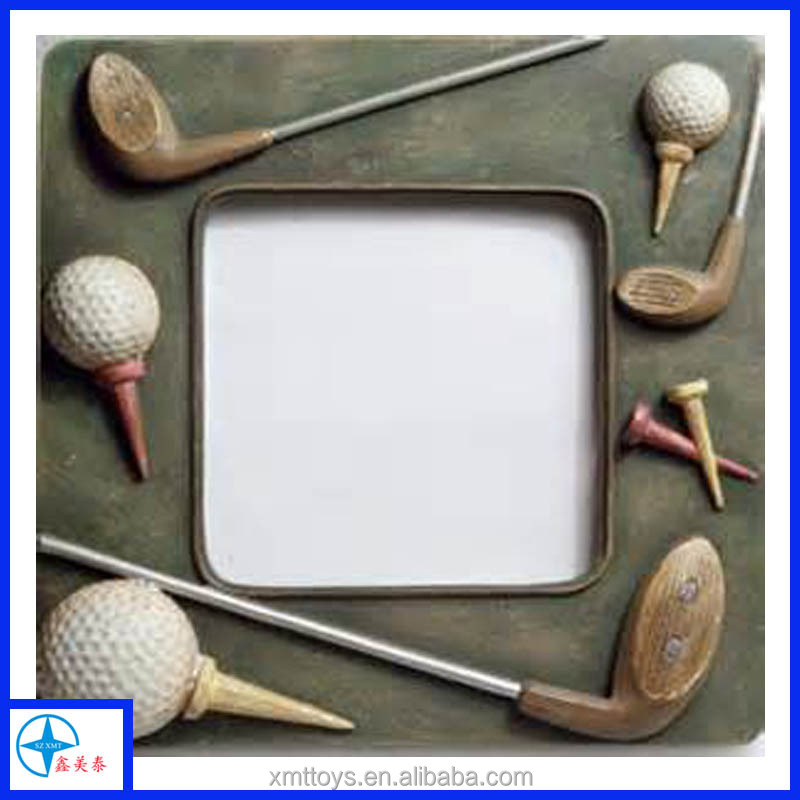 wholesale resin golf photo/picture frame for gift