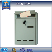 Mail description of building materials Wall-Mount Security cast aluminum mailbox, the letter box