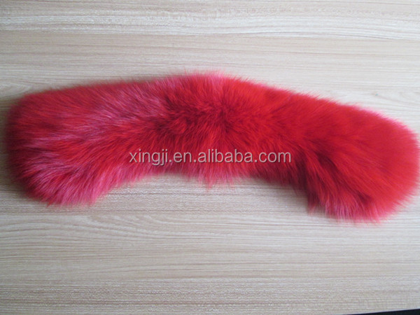 fox fur collar down coat fur collar