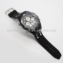 Black mens light up digital watches