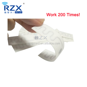 High Temperature Woven Washable UHF Passive RFID Laundry Tags for Uniform and Apparel Tracking System