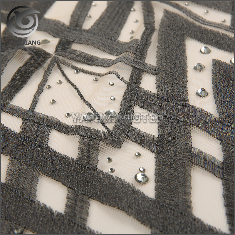 High quality cheap embroidery lace fabric with holes