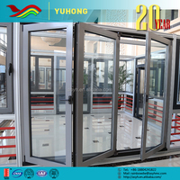 YH New product custom design multifunction provide installation method folding pvc doors prices
