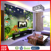 Forest design plants and animals wall mural for kids