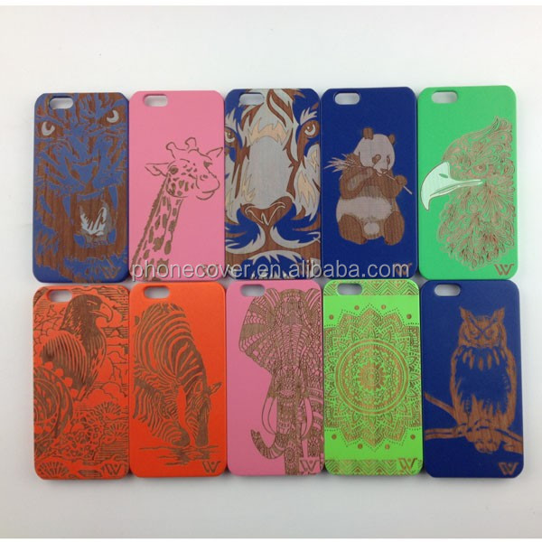 High quality hard cover 100% solid custom colorful wooden cell phone case for iphone 5SE, for iphone 6,for iphone 6 plus S7edge