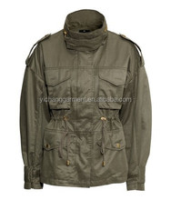 WOMAN CARGO MILITARY JACKET,WASHED.