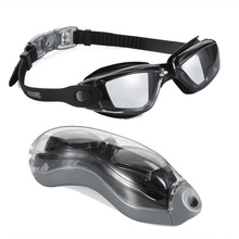 Amazon Hot Sale Women and Man Suitable Anti-Fog UV Protector Non Leaking Silicone Swim Goggles