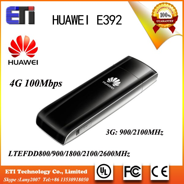Huawei E392 4G 100mbps LTE FDD 800/900/1800/2100/2600MHz Unlocked wireless USB Modem data card stick sim card dongle