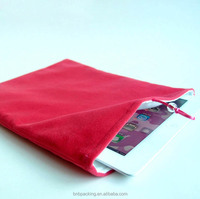 Wholesale Soft Microfiber Bag with Liner for Ipad Ipod Packaging Mobile Phone Pouch with Customized Logo