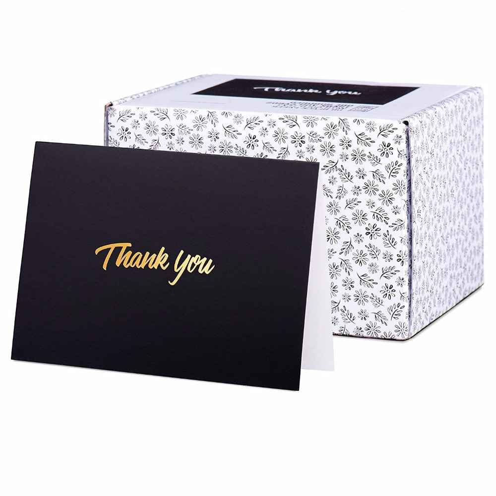 OEM factory design custom own logo thank you <strong>cards</strong> with envelope packing