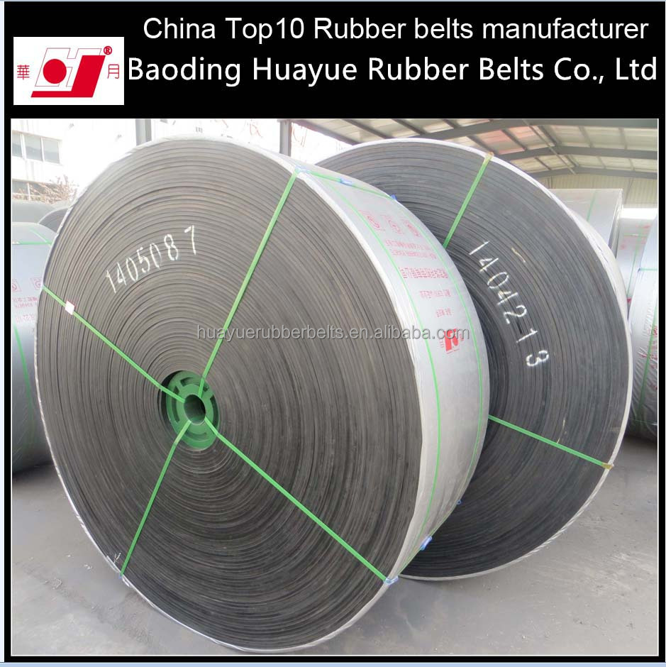 Alkali resistant coton rubber conveyor belt for cement